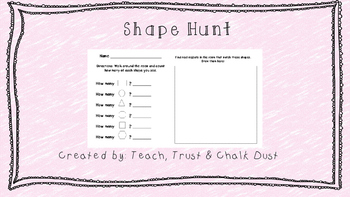 FREE Shape Hunt, counting shapes