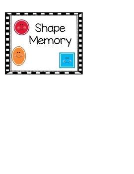 FREE Shape Memory Game:  Pre-K- Kinder