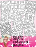 FREE Shape Pattern Coloring Pages