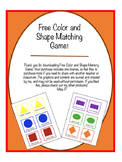 FREE Shape and Color Memory Game