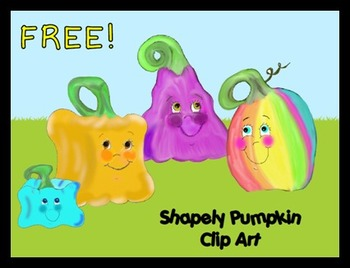 FREE!  Shapely Pumpkin Clip Art!  {Personal or Commercial Use!}