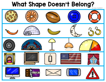 FREE Shapes Emergent Reader