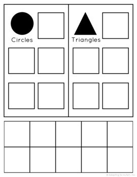 FREE Shapes Sorting File Folder Activity for Special Education and Autism