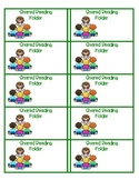 FREE Shared Reading Folder Labels for your classroom