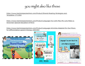 FREE Shared Reading Handout: Eliciting and Scaffolding Language