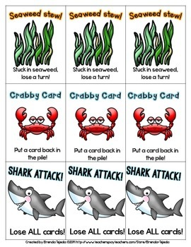 *FREE* Shark Attack: A Sight Word Card Game
