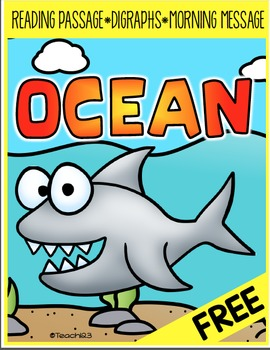 FREE Shark Reading Passage, Morning Message, Digraph