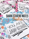 FREE Shark Themed Student Message Notes