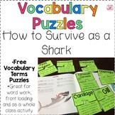 FREE Shark Vocabulary Puzzles