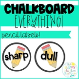 Sharp and Dull Pencil Labels- FREE!