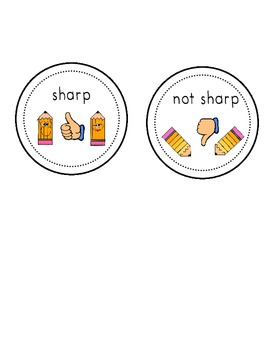FREE~ Sharp and Not Sharp Pencil Labels