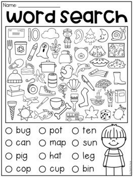 Cvc Worksheets Free Kindergarten