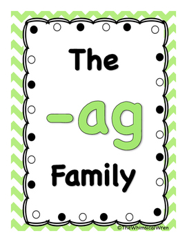 FREE Short a Family -ag