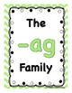 FREE Short a Family -ag
