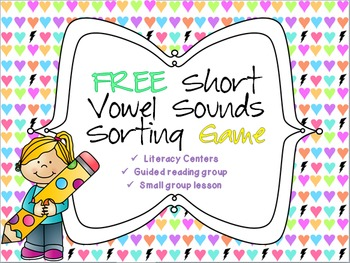 FREE Short vowel sounds sorting game!