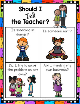FREE 'Should I Tell the Teacher' Poster