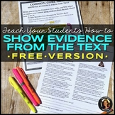 FREE Show Evidence From the Text: Nonfiction Reading Practice