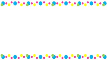 FREE // Side Border : Pink Yellow Blue Green Dots