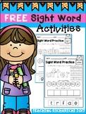FREE Sight Word Activities (First Grade) Coronavirus Packe