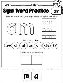 FREE Sight Word Activities (Primer)