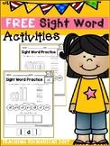 FREE Sight Word Activities (Primer) Coronavirus Packet Dis