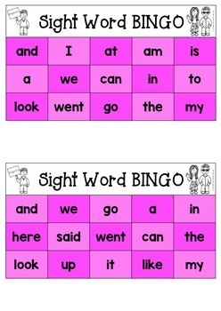 New Zealand Sight Words FREE Sight Word BINGO - Magenta Level NZ