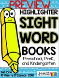FREE! Sight Word Book Sample {preschool, prek, kindergarten}