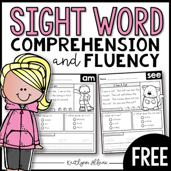 FREE Sight Word Comprehension and Fluency Practice