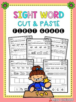 FREE Sight Word Cut & Paste (First Grade)