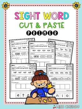 FREE Sight Word Cut & Paste (Primer)