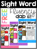 FREE Sight Word Fluency Dab It