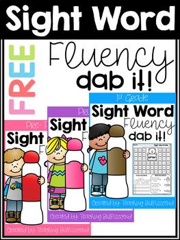 FREE Sight Word Dab Fluency