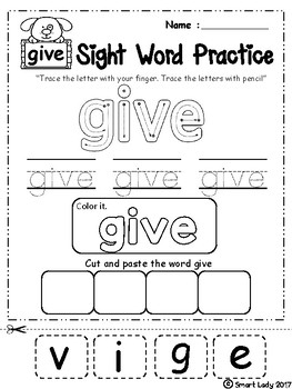 FREE Sight Word Practice ( First Grade )