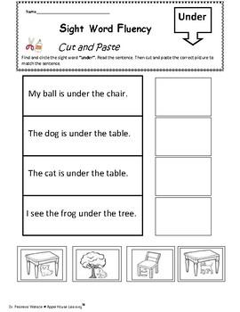 FREE - Sight Word Fluency Activity