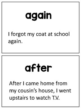 Sight Word Fluency Flashcards for Struggling Readers (Set 2)