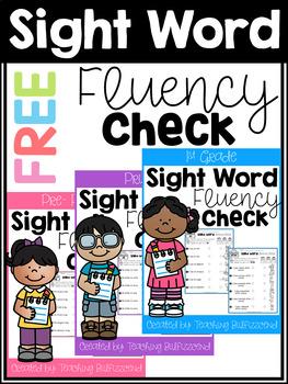 FREE Sight Word Fluency Check