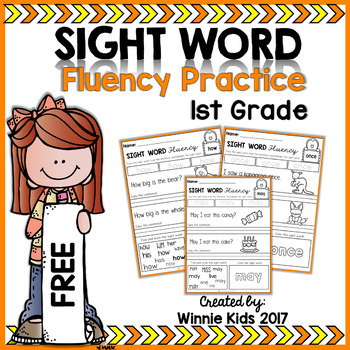 FREE Sight Word Fluency Practice - 1st Grade