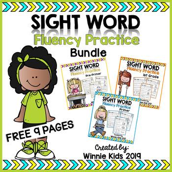 FREE Sight Word Fluency Practice