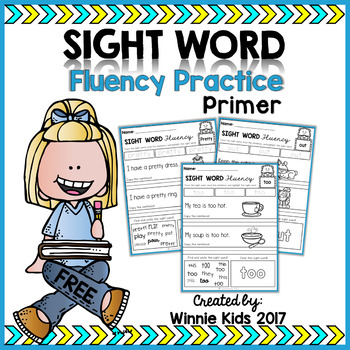 FREE Sight Word Fluency Practice - Primer