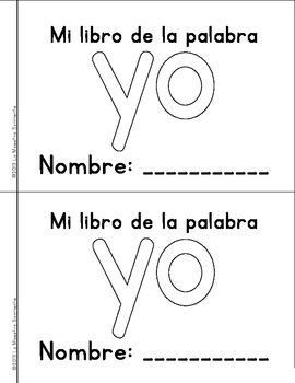 Sight Word Mini Book Freebie: Yo (Spanish)
