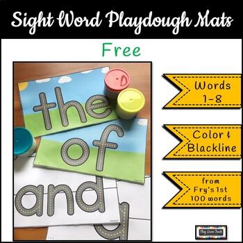 FREE Sight Word Playdough Mats - Fry Words 1-8
