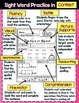 FREE Sight Word Practice Page
