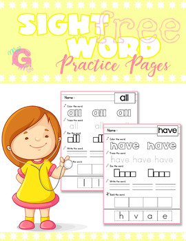 FREE - Sight Word Practice Pages