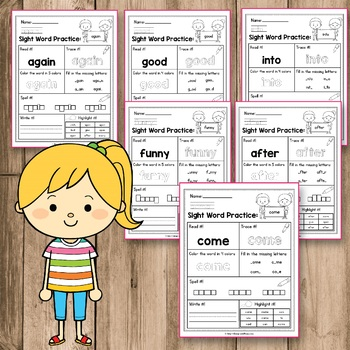 FREE Sight Word Practice - Sight Word Activities