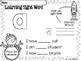 FREE Sight Word Pre Kindergarten Winter Activity