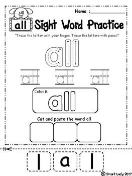 FREE Sight Word Practice ( Primer )