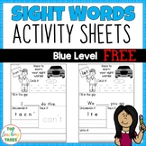 FREE High Frequency Sight Word Printables for Year One (Bl