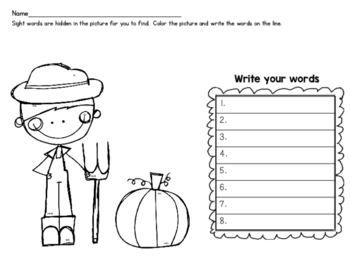 FREE Sight Word Search and Find!