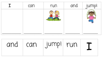 FREE: Sight Word Sentences-Build a sentence