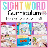 Dolch Pre-Primer Sight Word Unit | Activities, Literacy Ce